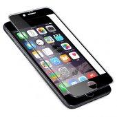 Bufalo İphone 6 Plus 6s Plus Silikon Çerçeveli 5d Cam Ekran Koruyucu Siyah