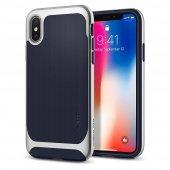 Iphone X Kılıf, Spigen Neo Hybrid Satin Silver