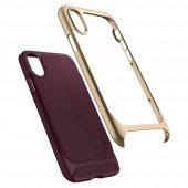 iPhone X Kılıf, Spigen Neo Hybrid Burgundy-7