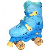 Busso Ayarlanabilir 4 Tekerlekli Mavi Paten...