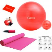 Cosfer 7 Parçalı New Model Kırmızı Pilates Seti