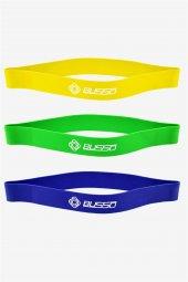 Busso 3 Adet Lateks Aerobik Pilates Band Seti