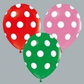Karışık Puantiyeli Baskılı Balon 10 Adet