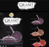 Taç Granit Plus 3 Parça Tencere Seti Renk...