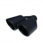 Xt Egzoz Ucu 2x90mm İçi Dolu Kesik Uçlu Siyah...