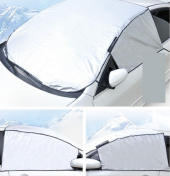 Güneş Kar Buz Önleyici Ön Cam Kenar Koruyuculu Örtü Yarım Branda-5