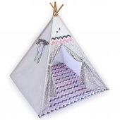 100Pamuk Ahşap Minderli Çocuk Oyun ve Uyku Çadırı