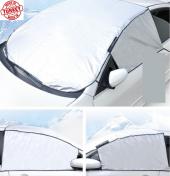 Güneş Kar Buz Önleyici Ön Cam Kenar Koruyuculu Örtü Yarım Branda-7