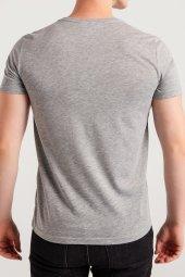 AVVA RED Erkek O Yaka Baskılı T-shirt Gri-6