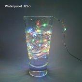 3 Metre Karışık Renkli Pilli Peri Led Dekoratif Tel Led Aydınlatm-3