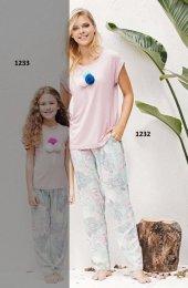 Catherınes 1232 Bayan Kısa Kollu Pijama Takımı