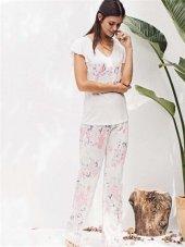 Catherınes 1250 Bayan Kısa Kollu Pijama Takımı