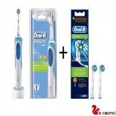Oral B Vitality Cross Şarjlı Diş Fırçası + 2li Ora...