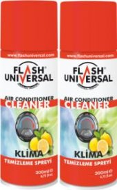 2 li Set Flash Universal Antibakteriyel Klima Temizleme Spreyi 20
