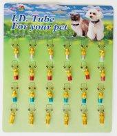 Percell İki Renkli Kedi Köpek İsimlik Kimlik Tüpü 2 cm