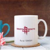 Kişiye Özel NBA Houston Rockets Beyaz Kupa Bardak
