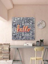 Hello - Tipografi Kanvas Tablo-3