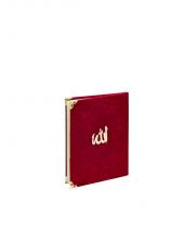 Mevlidlere Özel Çanta Boy 128 Sayfa Bordo Kadife Yasin