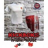 Kick Boks Şort Kick Boks Tişört Bandaj Dişlik Set