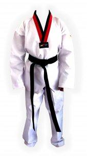 Pum Yaka (Kırmızı Siyah Yaka) Fitilli Taekwondo...