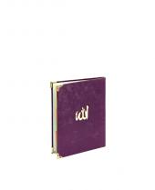 Mevlütlere Özel Çanta Boy 208 Sayfa Patlıcan Moru Kadife Yasin Kitabı