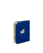Mevlidlere Özel Çanta Boy 208 Sayfa Lacivert Kadife Yasin Kitabı
