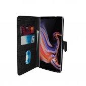Samsung J6 (J600) Yan Kapaklı Cüzdanlı Kartlıklı Kılıf Siyah-3