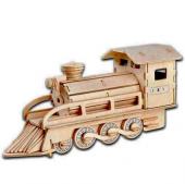 Piramigo 3d Büyük Ahşap Maket Tren Lokomotiv
