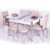 Yemek Takımı Mutfak 4 Sandalye + 2 Tabure +...