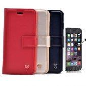 iPhone 7 Plus Lüx cüzdan Kılıf + Cam Ekran Koruyucu-4