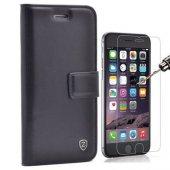 iPhone 7 Plus Lüx cüzdan Kılıf + Cam Ekran Koruyucu