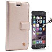 iPhone 7 Plus Lüx cüzdan Kılıf + Cam Ekran Koruyucu-2