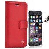iPhone 7 Plus Lüx cüzdan Kılıf + Cam Ekran Koruyucu-3