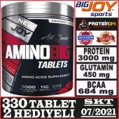 BigJoy Sports AminoBig 3000 mg 330 tablets 110 Porsiyon Kompleks Aminoasit