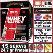 Hardline Whey 3matrix Tek Kullanımlık 15 Adet 450 Gr 3 Matrix Protein Tozu