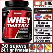 Hardline Whey 3 Matrix Protein Tozu 908 Gr 30 Servis Helal Gıda