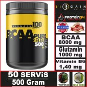 Biogain Nutrition Bcaa Powder 500 Gr 50 Servis...