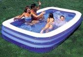 Bestway Jumbo Boy Deluxe Dikdörtgen Şişme Aile Havuzu -54009-2