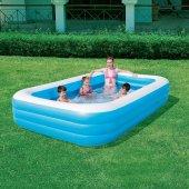 Bestway Jumbo Boy Deluxe Dikdörtgen Şişme Aile Havuzu -54009-3
