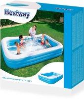 Bestway Jumbo Boy Deluxe Dikdörtgen Şişme Aile Havuzu -54009-5