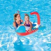 PLAJ TOPU HEDİYE - Bestway Gölgelikli Havuz & Deniz Botu - Baby Float, Bestway 34100 -4
