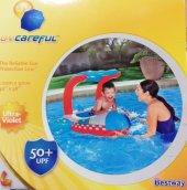 PLAJ TOPU HEDİYE - Bestway Gölgelikli Havuz & Deniz Botu - Baby Float, Bestway 34100 -5