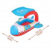 PLAJ TOPU HEDİYE - Bestway Gölgelikli Havuz & Deniz Botu - Baby Float, Bestway 34100 -7