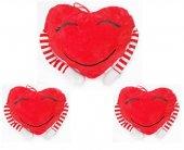 20cm Çizgi Desenli Kollu Kalp Peluş Oyuncak 3...