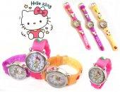 Hello Kitty Figürlü, 3d Kabartmalı, Silikon Kayışlı Çocuk Saati