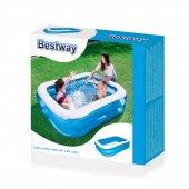 Bestway Büyük Dikdörtgen Aile Havuzu (201x150x51cm)-54005-3