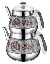 381 Kristal Mini Desenli Çaydanlık Siyah