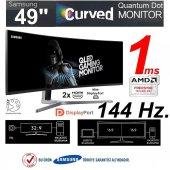 Samsung 49 Lc49hg90dmmxuf 1ms 144hz Qled Curved Ga...