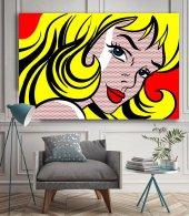 Pop-Art Kadın - Pop Art Kanvas Tablo