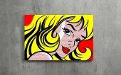 Pop-Art Kadın - Pop Art Kanvas Tablo-2